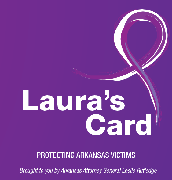 Laura's Card for Victims of Domestic Violence