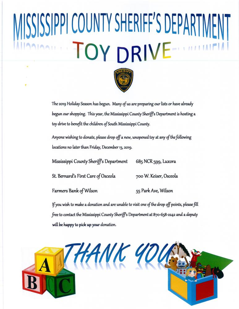 Flyer with toy driver information